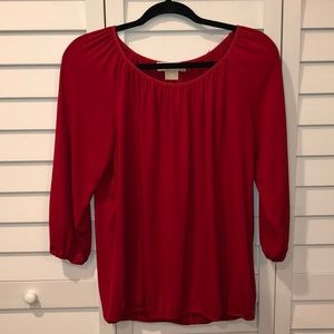 Michael Kors red blouse